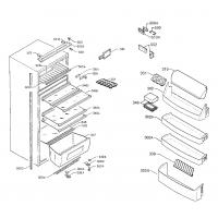 Пластиковые детали ( полки, ящики, накладки ) Холодильника