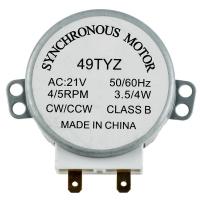 Мотор привода тарелки СВЧ-печи UNIVERSAL 49TYZ ( 4W, 21V 4/5RPM )