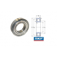 Подшипник 6203 2Z ( 17x40x12 ) SKF 2Z/C3GJN MADE IN ITALY