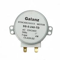 Мотор привода тарелки СВЧ-печи GALANZ SS-5-240-TD ( 220 V, 5-6 r/min, 3 W )